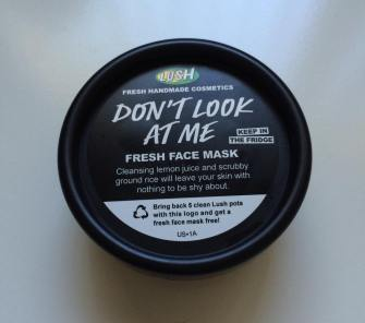 Lush Cosmetics Don't Look At Me Face Mask