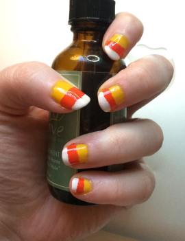 Mani Monday Halloween Candy Corn