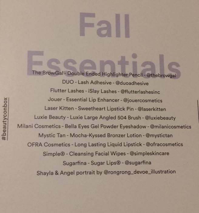 Fall Beautycon Box 2016